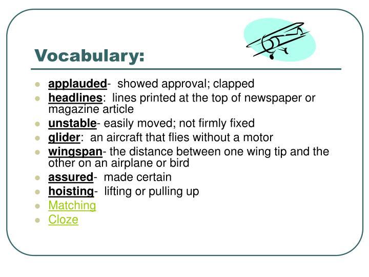 Vocabulary: