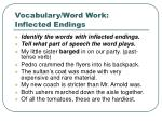 vocabulary word work inflected endings1