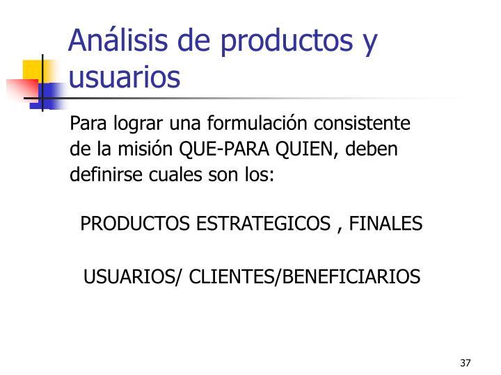 Análisis de productos y usuarios