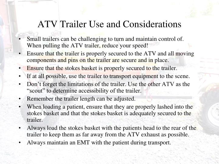 ATV Trailer Use and Considerations