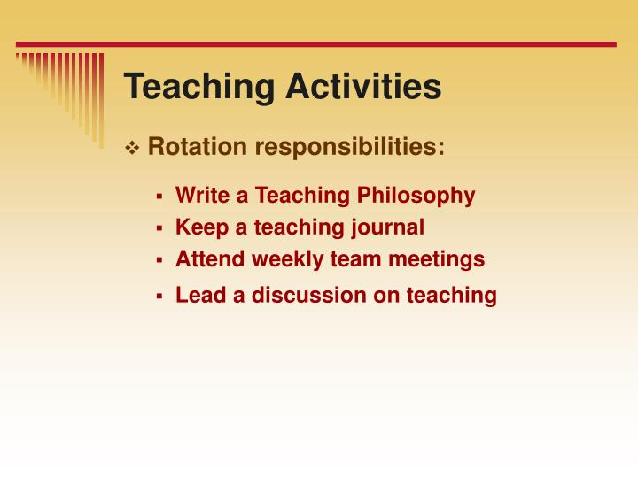 Teaching Activities