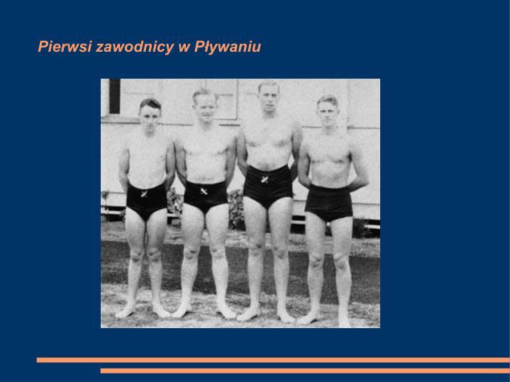 Pierwsi zawodnicy w Pływaniu