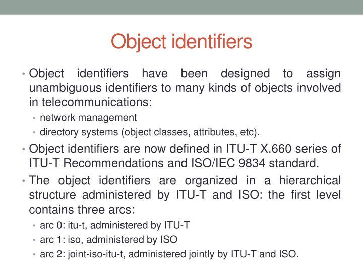 Object identifiers