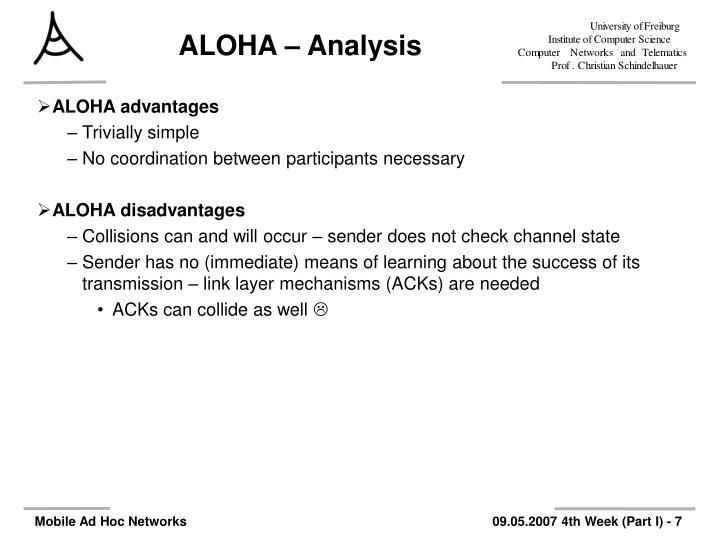 ALOHA – Analysis
