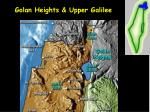 golan heights upper galilee