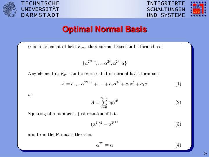 Optimal Normal Basis