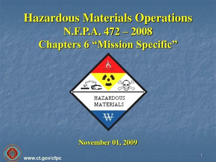 Hazardous Materials Operations
