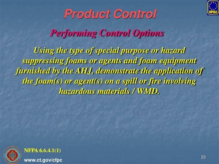 Product Control