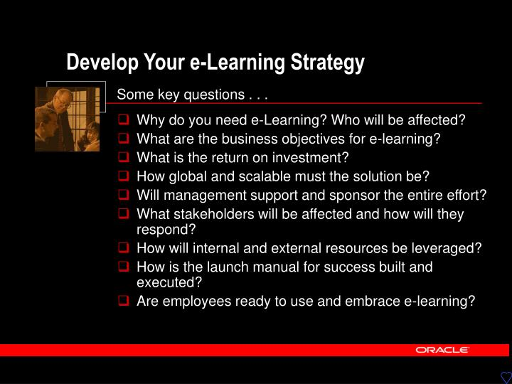 Develop Your e-Learning Strategy