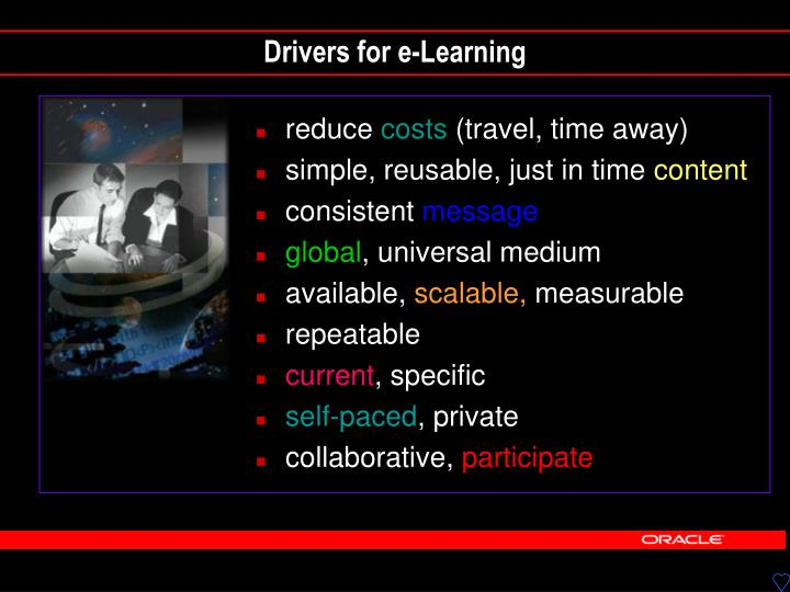 Drivers for e-Learning
