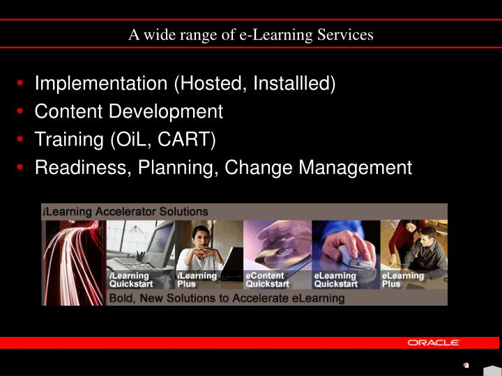 A wide range of e-Learning Services