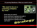 we need to be an e learning company by june