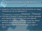join and product operations con t1