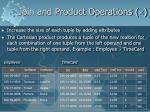 join and product operations