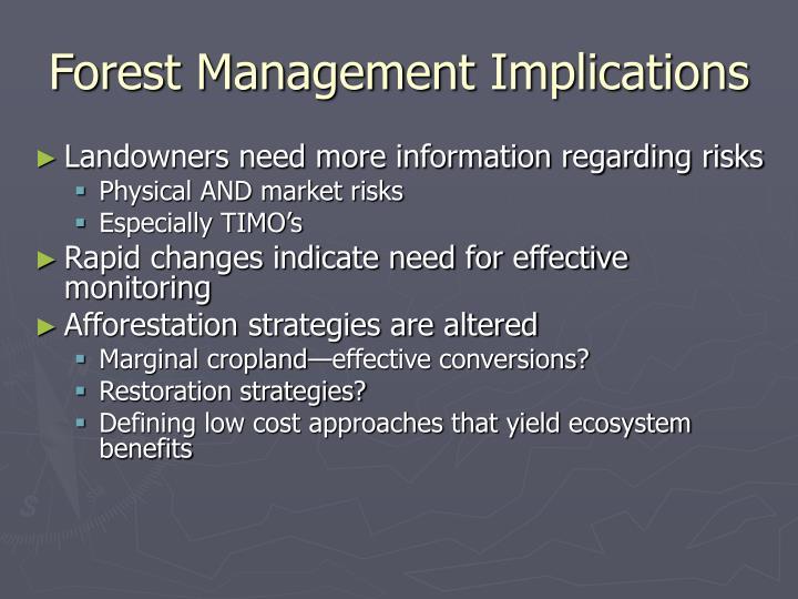Forest Management Implications