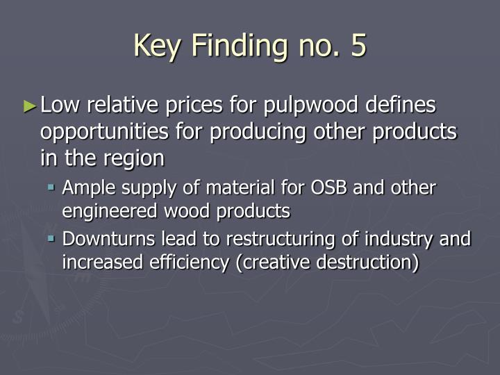 Key Finding no. 5