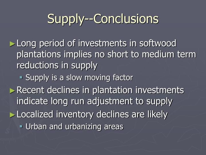 Supply--Conclusions