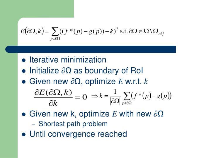 Iterative minimization