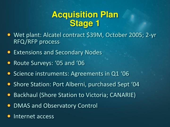 Acquisition Plan