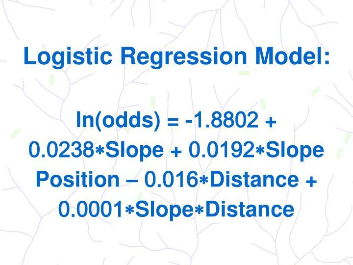Logistic Regression Model: