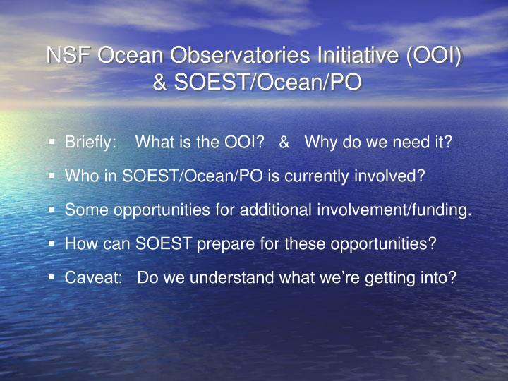 NSF Ocean Observatories Initiative (OOI)