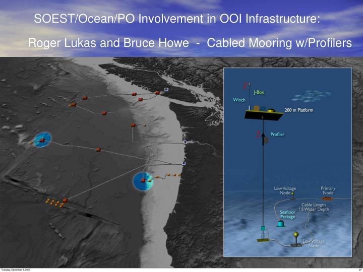 SOEST/Ocean/PO Involvement in OOI Infrastructure: