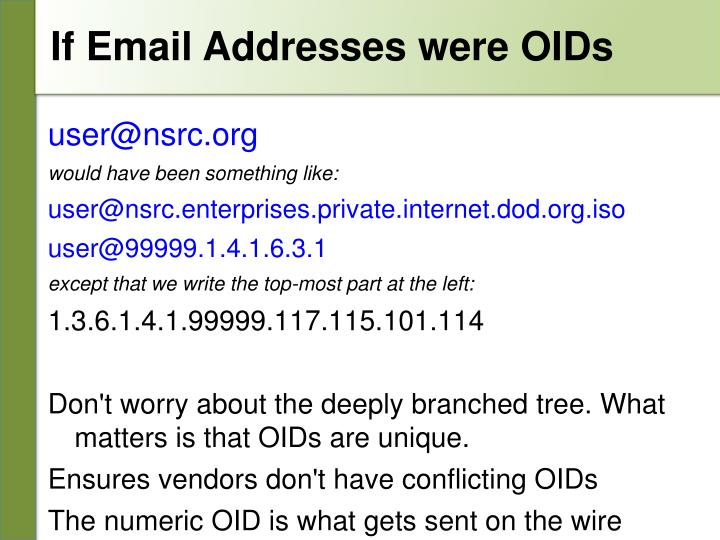 If Email Addresses were OIDs