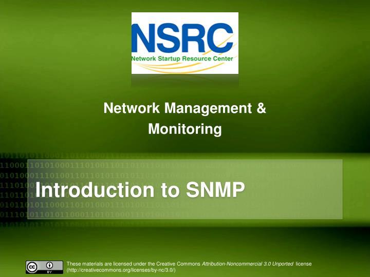 Network Management &