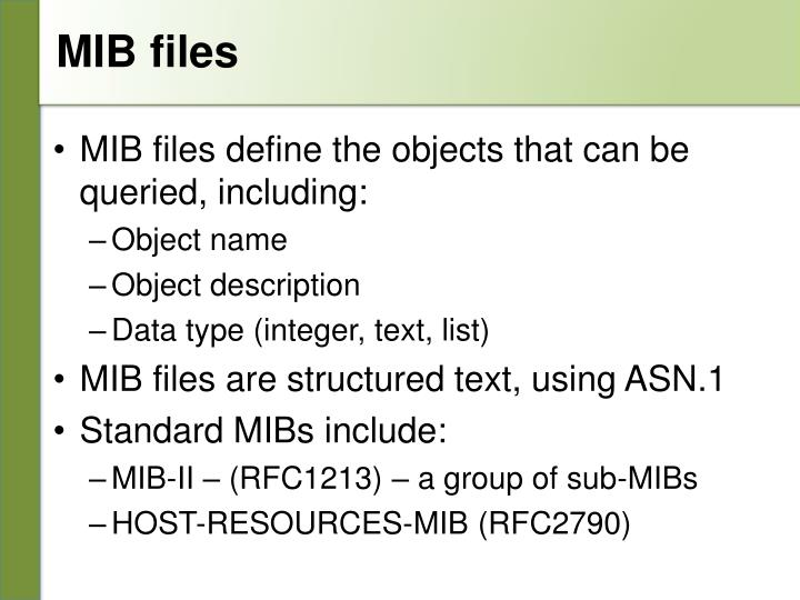 MIB files