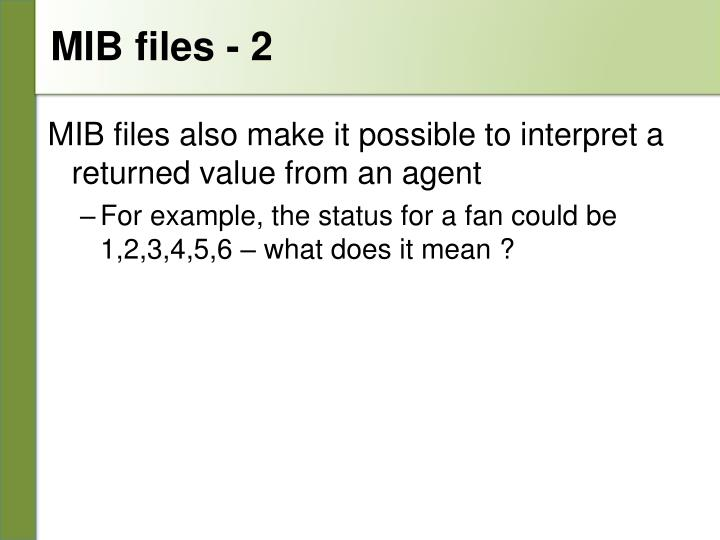 MIB files - 2