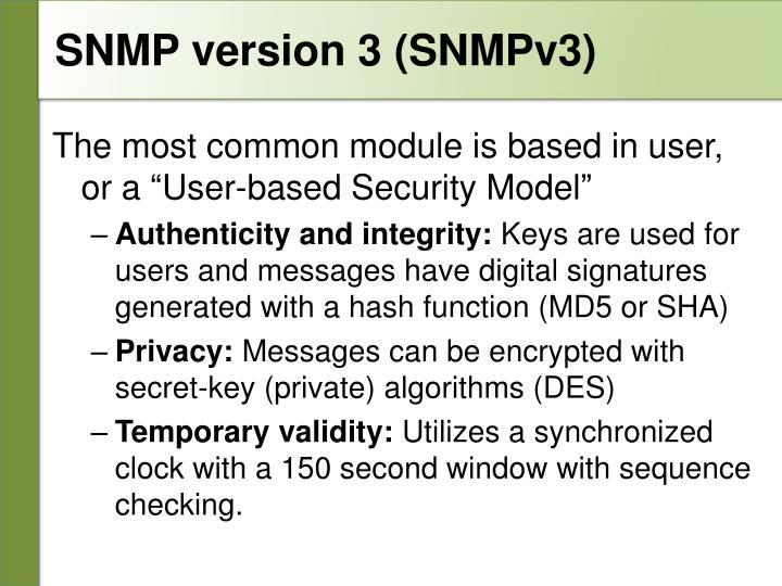 SNMP version 3 (SNMPv3)