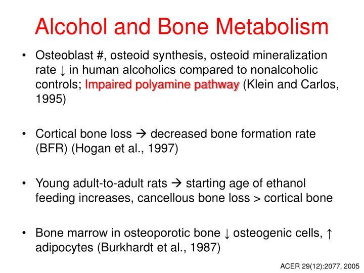 Alcohol and Bone Metabolism