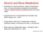 alcohol and bone metabolism