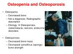 osteopenia and osteoporosis
