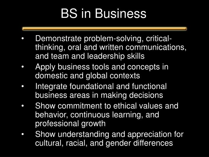 BS in Business