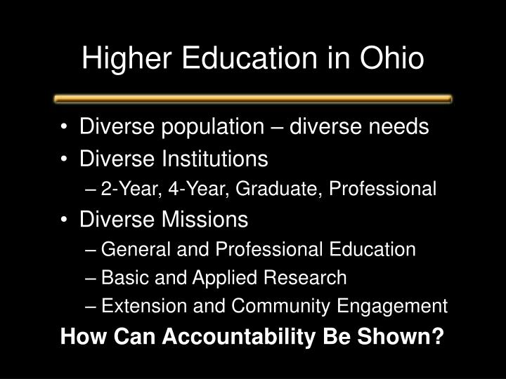 Higher Education in Ohio