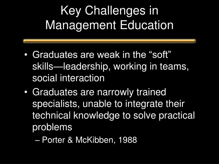 Key Challenges in