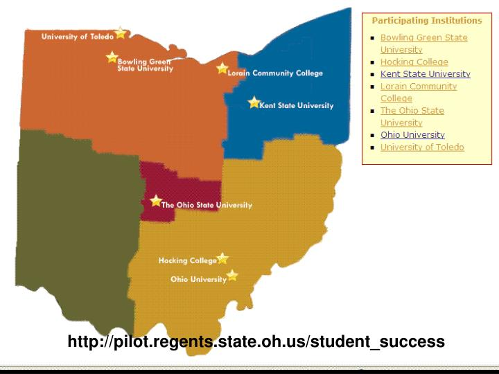 http://pilot.regents.state.oh.us/student_success