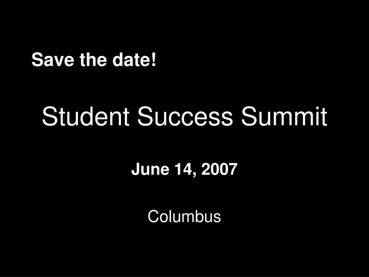 Student Success Summit