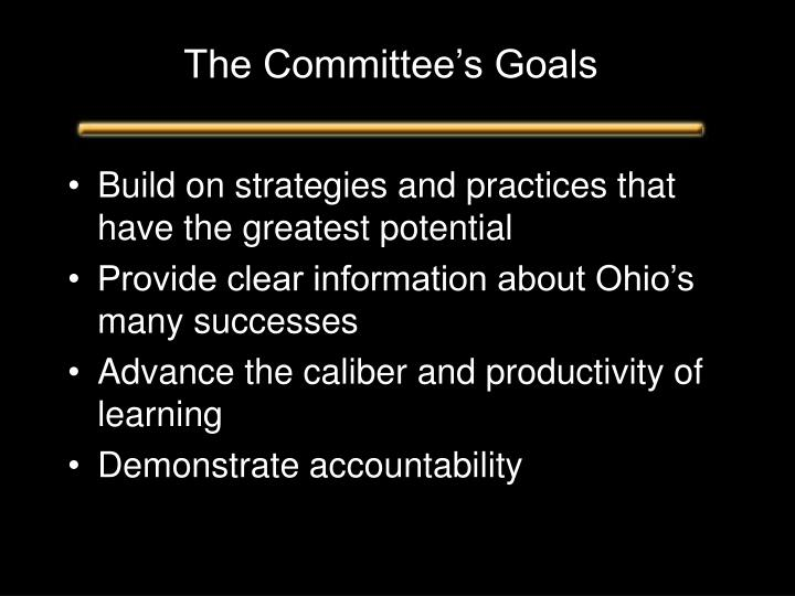 The Committee's Goals