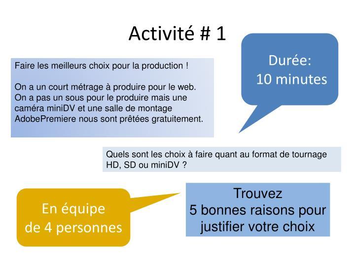 Activité # 1