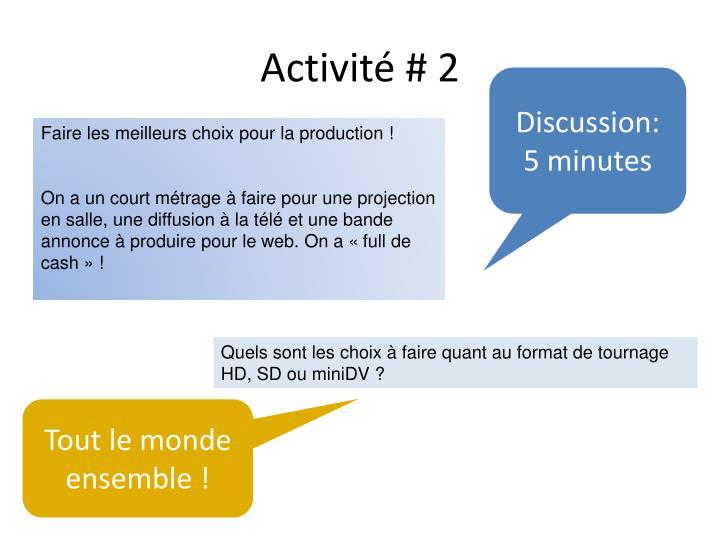 Activité # 2
