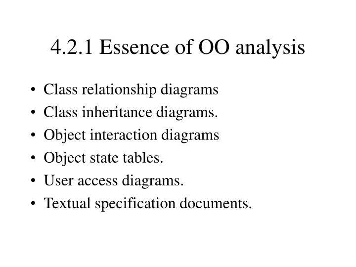 4.2.1 Essence of OO analysis