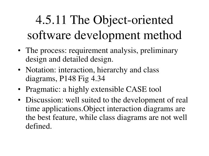 4.5.11 The Object-oriented software development method