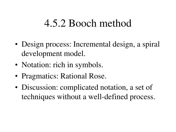 4.5.2 Booch method