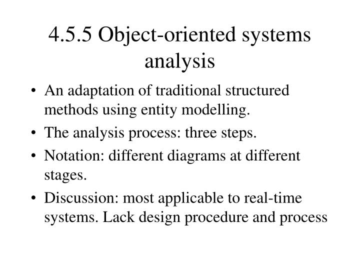 4.5.5 Object-oriented systems analysis