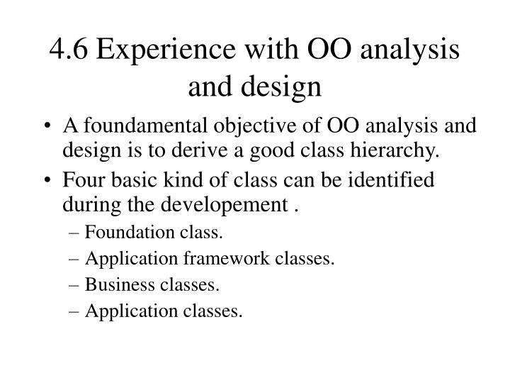 4.6 Experience with OO analysis and design