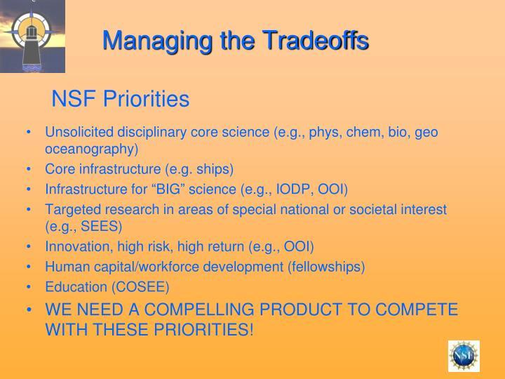 Managing the Tradeoffs