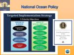 national ocean policy