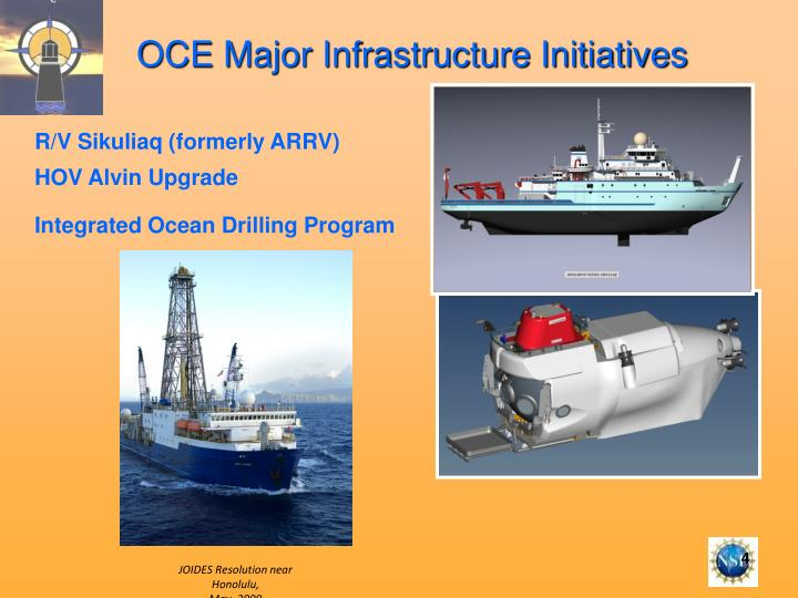 OCE Major Infrastructure Initiatives